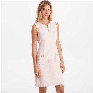 Karl Lagerfeld Tonal Tweed Pocket Dress Pink